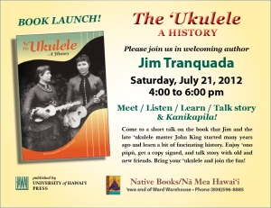 The Ukulele book launch invite
