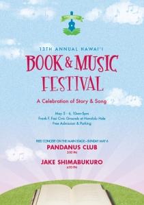Hawaii Book & Music Festival poster